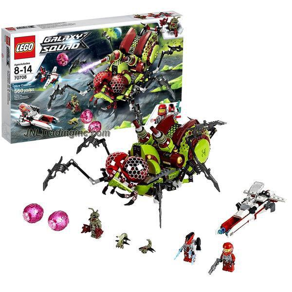 NEW 2013 LEGO Galaxy Squad Series Set  70708 HIVE CRAWLER+3 Minifigures 560Pcs.