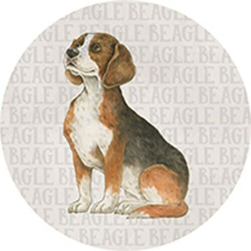 Single Round Absorbent Stone Car Coaster-BEAGLE-by Carson Home Accents