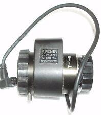Avenir Auto-Iris, VariFocal 3.5-8mm, F1.4 CS-Mount CCTV Lens Made in Japan.