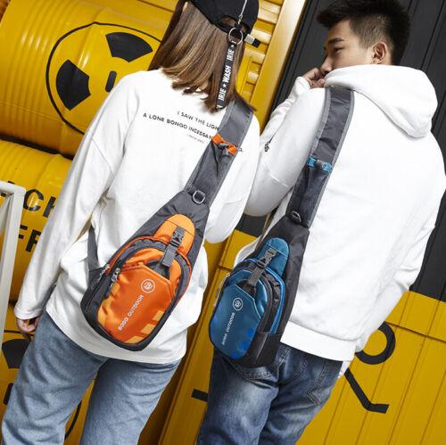 Waterproof Small Chest Bag Travel Sport Shoulder Sling Backpack Cross Body UK