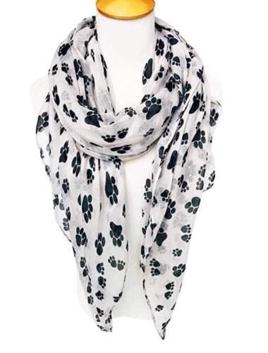 Tuch Schal mit Pfoten Hundepfoten Halstuch Hund Motiv leichte Stola
