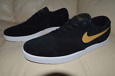New Nike Mens Eric Koston 2 SB Shoes 580418-070 sz 11 Black Metallic Gold