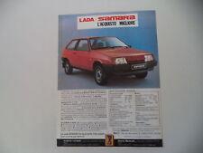 advertising Pubblicità 1987 LADA SAMARA