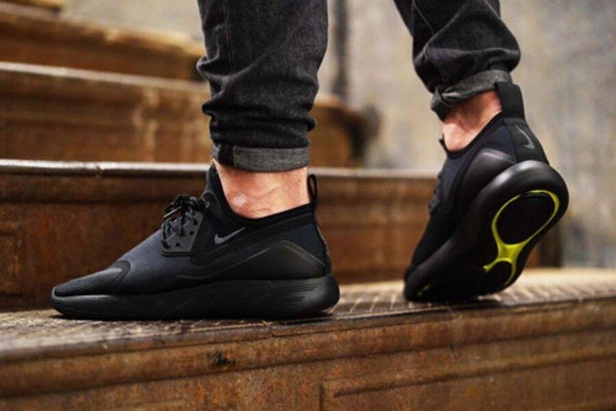 Nike lunarcharge essenziale dimensione 7 uk ossidiana nera bnib Uomo formatori air max 1