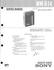 Sony Original Service Manual für WM-B 14