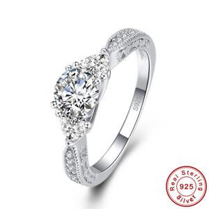 Women-Gift-Wedding-Gift-White-Topaz-100-925-Sterling-Silver-Ring-Sz-L-N-P-R