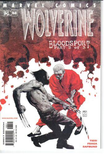 9.2 Wolverine 1988 Series #168 November 2001 Marvel NM