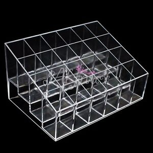 24-Clear-Acrylic-Makeup-Lipstick-Cosmetic-Display-Stand-Organizer-Holder-Case