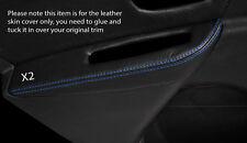 Punto azul 2x Puerta Trasera Descansabrazos Skin Tapa se ajusta Renault Megane Mk3 08-13