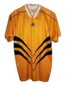 Details about Vintage 90s Adidas Mens XL Goalkeeper Jersey Shirt Striped Orange Futbol Goalie