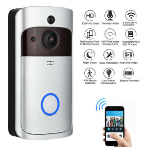 Video Kamera Türsprechanlage HD IP WALN Funk Türklingel Überwachungen Nachtsicht