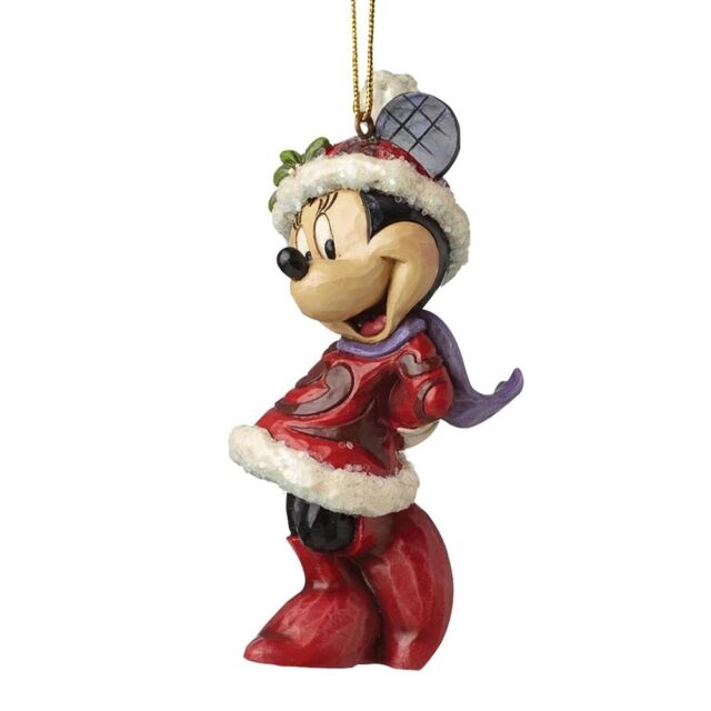 Disney Traditions A28240 Christmas Sugar Coat Minnie Mouse Hanging Ornament