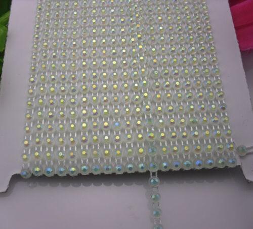 10Yards SS12 Many color jelly AB Rhinestones banding Trim plastic chain bottom