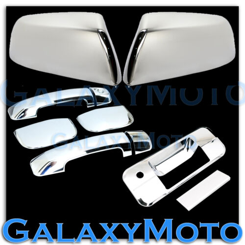 07-14 TUNDRA DOUBLE CAB Chrome HALF Mirror+4 Door Handle no PSG+Tailgate Cover