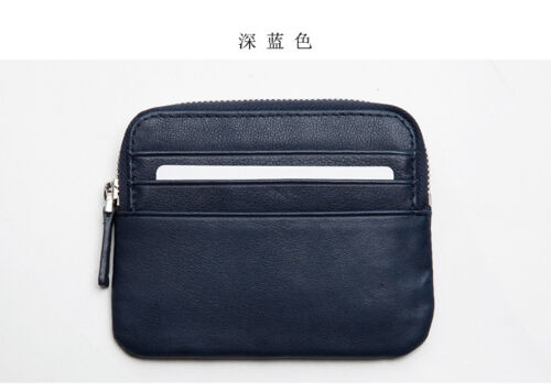 LANSPACE Men/'s leather wallet brand zipper card holder fashion coin purse
