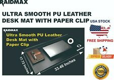 Raidmax Ultra Smooth Pu Leather Writing Pad Desk Mat Withpaper Clip