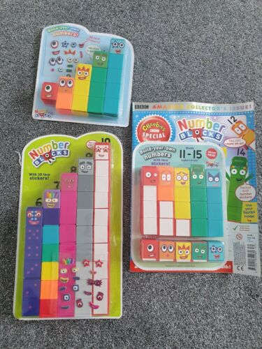 Numberblocks magazine collectables Cbeebies Preschool educational   1-5 /& 6-10 /&