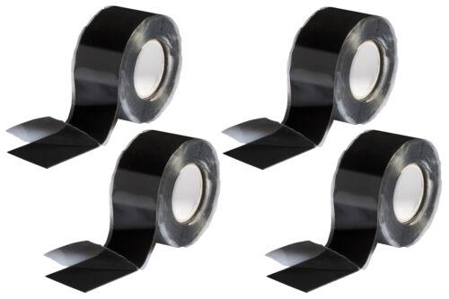 4x Silikonband Isolierband Abdichtband selbstverschweißend 3m x 25mm schwarz