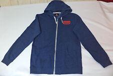NWT Quiksilver Long Sleeve Blue Zipper Front Hoodie       Medium     L1762