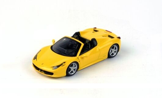 Ferrari 458 Spider 2012 jaune Modena Fujimi 1 43 Model TRUE SCALE MINIATURES