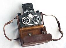 Sputnik Lomo Soviet Vintage Stereo Camera w/ Leather Case