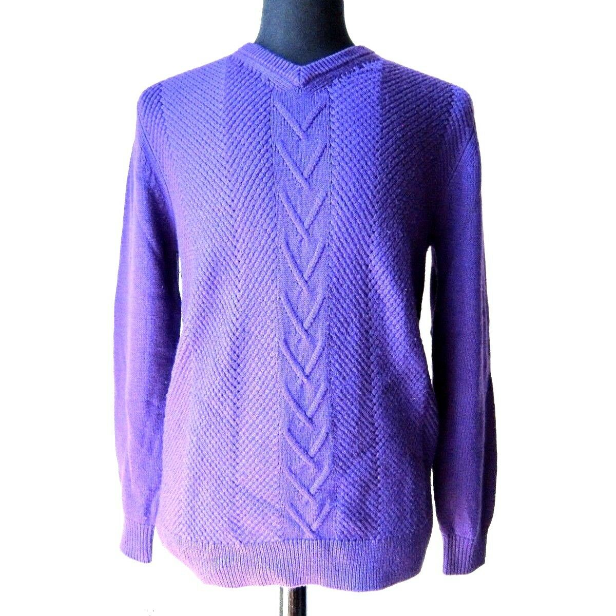 Pre-owned S.T. ST Dupont Purple Sweater Size S R-7005