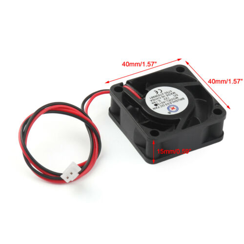 12V Cooling Computer Fan Sleeve Bearing Small 40mm x 10mm DC Brushless 2 Pin