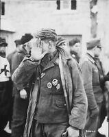 "POW German Soldier Prisoner 8""x 10"" World War II WWII WW2 Photo 435"