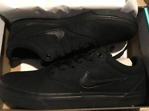 Nike SB Charge CNVS Shoes Skateboard Canvas Triple Black CD6279 ...