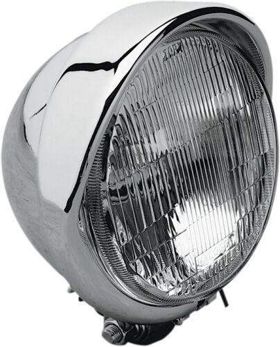 Drag Specialties 5 3//4in Headlight with Built-In Visor Harley-Davidson DS-280095