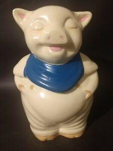 Vintage Shawnee Pottery Smiley Pig Cookie Jar