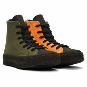 44a250e155 Converse x JW Anderson Felt Chuck 70 Hi High Top Stone Gray Orange ...
