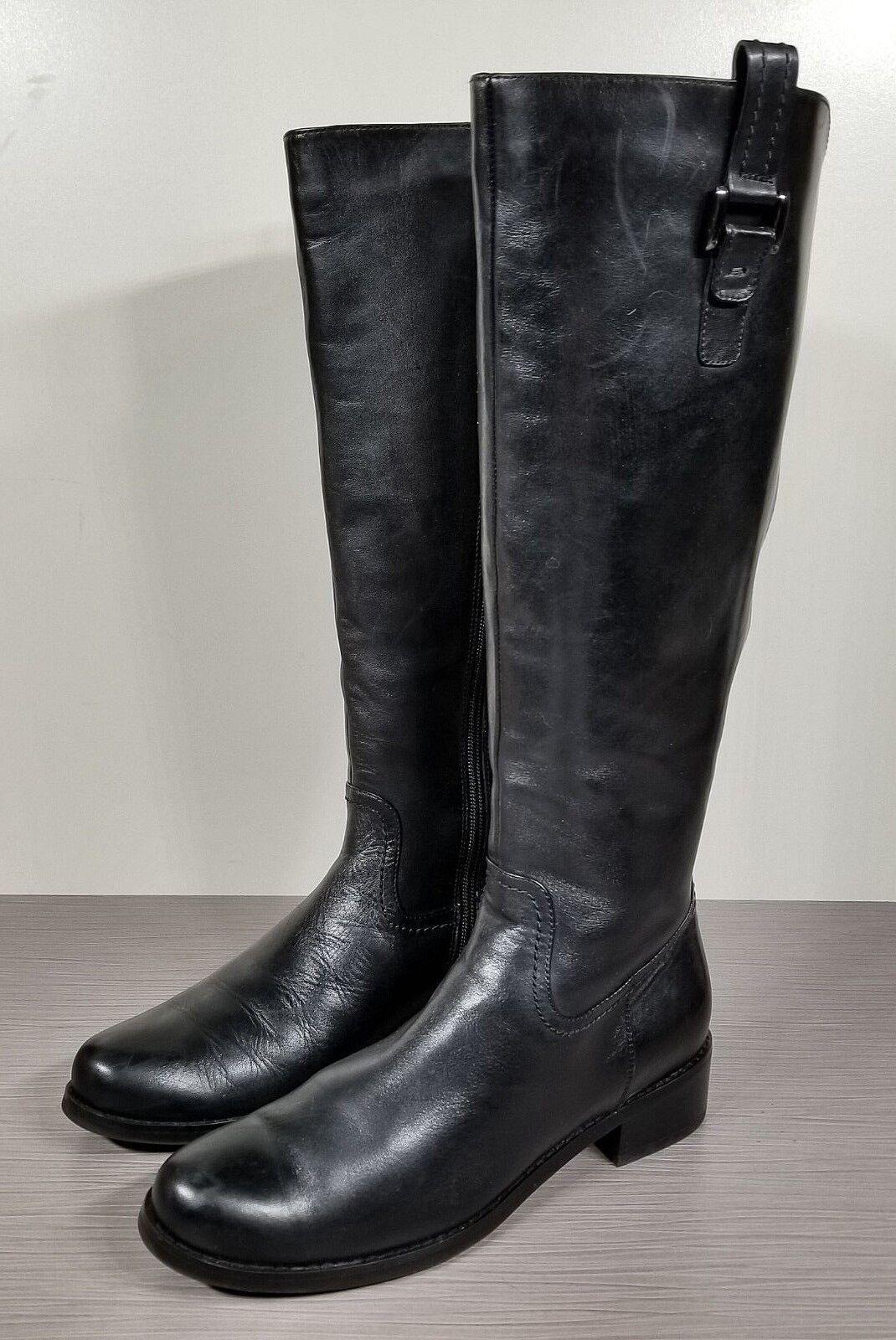 Blondo Black Leather 'Velvet' Waterproof Riding Boot, Womens Size 8 8 8 M 90cd70