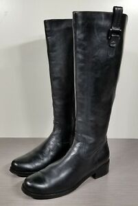 88039b36e85 Blondo Black Leather 'Velvet' Waterproof Riding Boot, Womens Size 8 ...