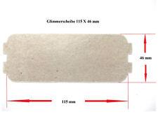 2 X Glimmerscheibe Mica-Plate 115 X 46 mm für Mikrowelle ( Magnetronabdeckung )
