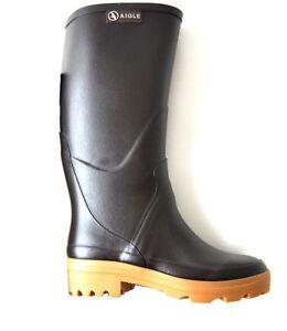 Détails sur Aigle Femmes Bottes en Caoutchouc Marron Caoutchouc Naturel Chaussures Taille 35 afficher le titre d'origine