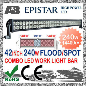 A-amp-B-42-034-240W-LED-OFFROAD-DRIVING-LIGHT-BAR-SPOT-SPREAD-COMBO-BEAM-FREE-CABLE