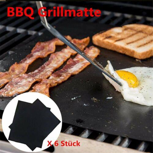 6X Grillmatte Grill Mat Teflon bis 260°C-BBQ Grillen Backen-Backofen /& Grill EA