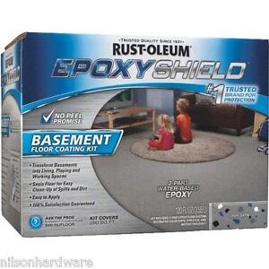 Rustoleum Epoxyshield Gray With Blue Graychips Basement