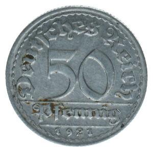 Deutsches-Reich-50-Pfennig-1921D-A14912