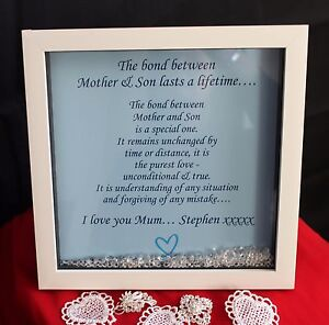 Personalised Hq Box Frameprintmothers Day Mam Mum Mother Songift