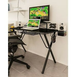 Amazing Details About Gaming Computer Desk Atlantic Gamer Laptop Video Game Table Student Workstation Home Interior And Landscaping Pimpapssignezvosmurscom