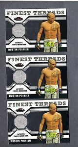2011 Finest UFC Finest Threads Fighter Relics Dustin Poirier 3 Ct Lot UFC 065