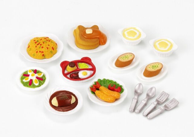 New Sylvanian Families Calico Critters Dolls Animals Lunch Cake Set ka-417 Japan