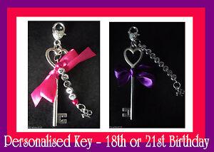 18th 21st 18th/21st clave clave Personalizado Regalo de Cumpleaños reducido a borrar  </span>