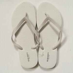 1dadb1d6425 Old Navy Women Flip Flop Thong Sandals Flat White Black Size 3 4 5 6 ...