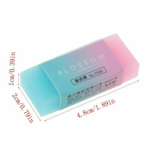 Colored Pencil Rubber Erasers School Student Stationery Supply Kids