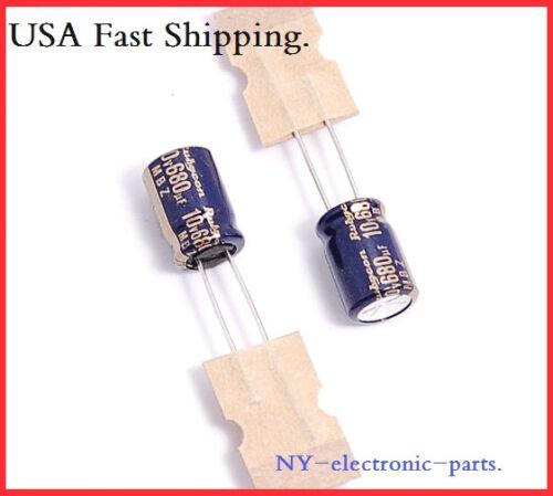 680UF 10V RUBYCON RADIAL ELECTROLYTIC CAPACITORS.8X12MM.MBZ. 12PCS