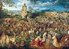 Puzzle Pappe Trefl 1000 Teile Pieter Bruegel Aufstieg Kalvarienberg NEU 10292