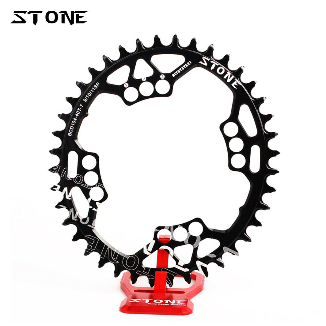 Stone Oval Bike Single Chainring BCD104 104mm For XT M780 785 SLX670 XO X9 X7